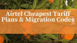 Airtel Tariff Plans