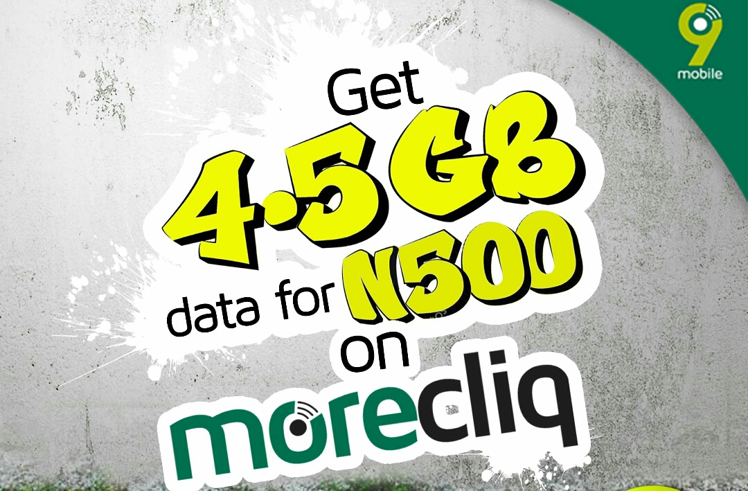 Obtain Etisalat (9mobile) 4 5GB For Just N500- Awuf Give