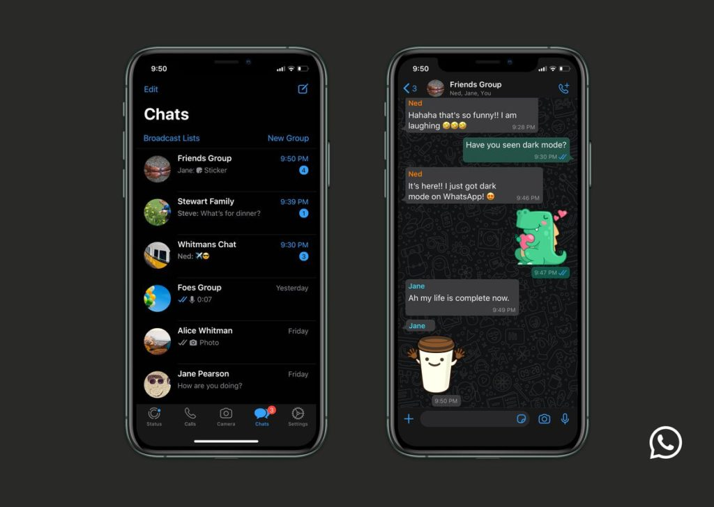 whatsapp Dark Mode For iphone Android