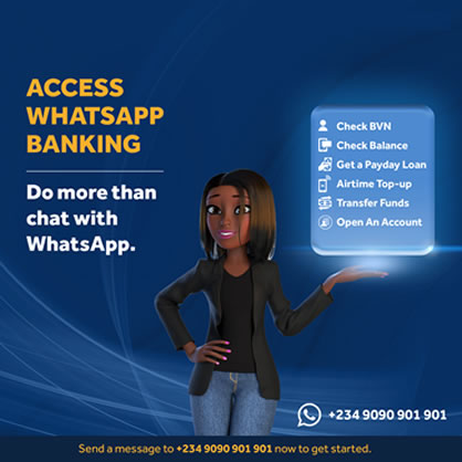 Access Bank Whats App Banking